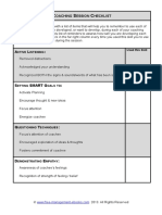 Fme Coaching Session Checklist