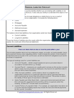Fme Financial Liabilities Checklist
