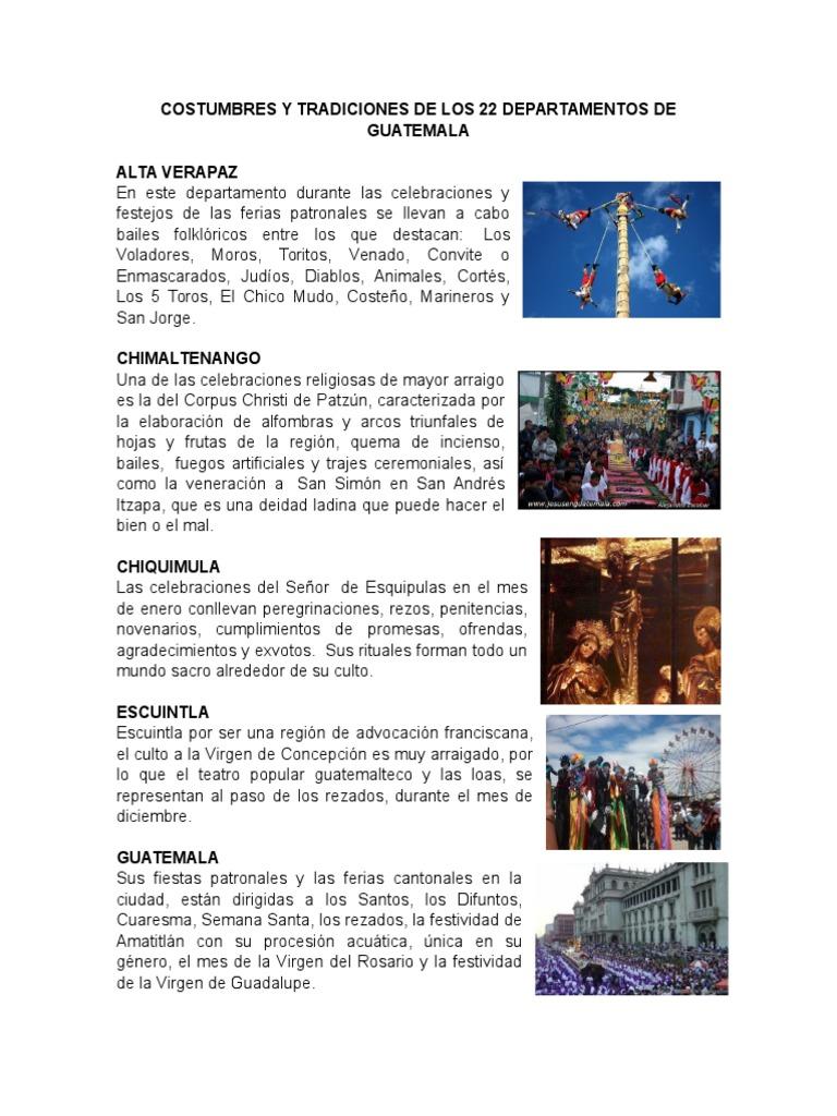 70ef958ea Costumbres y Tradiciones de Los 22 Departamentos de Guatemala