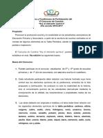concurso de cuentos avoquim 2017 - bases y condiciones