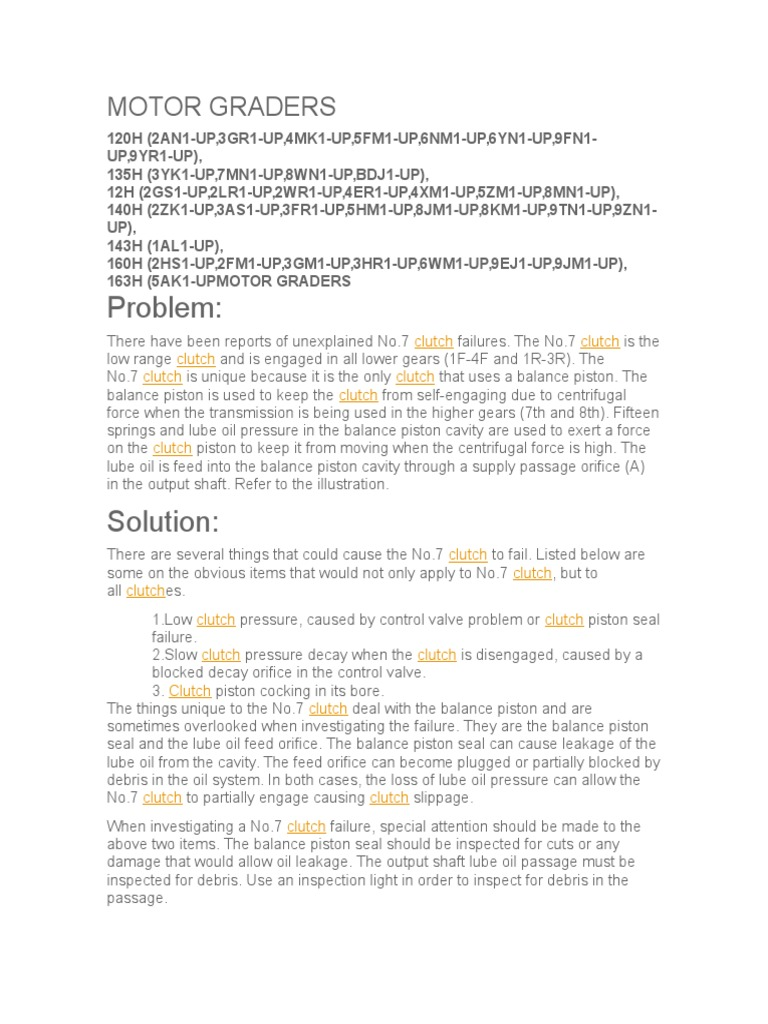 Clutch Valve Diagrams Diagnosis Cluthces Hydraulic Adjusting