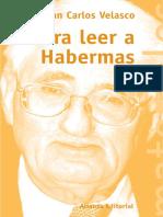 Para Leer a Habermas Velasco Arroyo Juan Carlos