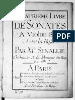 Senaillé Violin Sonatas 4