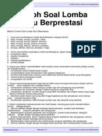 Download Contoh Soal Lomba Guru Berprestasi Kepalasekolah.org