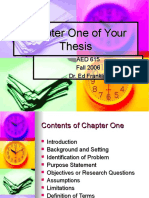 Chapter One of Your Thesis1.ppt