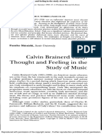 Thought and Feeling in the Study of Music 2