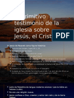 El Primitivo Testimonio de La Iglesia Sobre Jesús