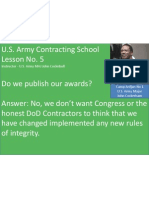 U.S. Army Contracting Lesson No. 5