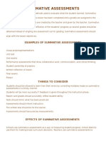 act  summative assessments