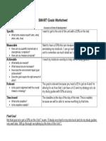 smart goals worksheet - biology ethics