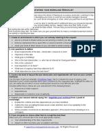 Fme Negotiating Workload Checklist