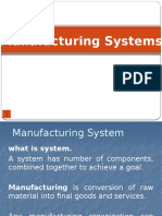 1 Introduction to Manufacturing Systems