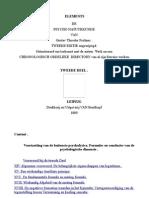 Elements de Psychonatuurkunde-02-Gustav T. Fechner