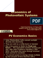 Economics of Photovoltaic Systems