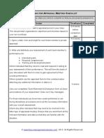 Fme Preparing Appraisal Meeting Checklist