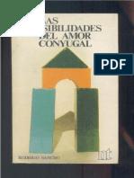 Sancho Las Posibiliades Del Amor Conyugal