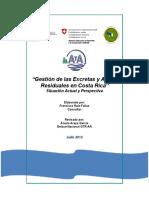 Gestión de Las Excretas y Aguas Residuales en Costa Rica Situación Actual y Perspectiva