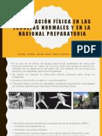 La educación física en las escuelas normales y en la nacional preparatoria
