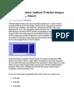 Tutorial Membuat Aplikasi Webchat Dengan PHP