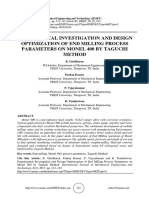 EXPERIMENTAL INVESTIGATION AND DESIGN OPTIMIZATION OF END MILLING PROCESS PARAMETERS ON MONEL 400 BY TAGUCHI METHOD