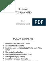 Ilustrasi Kasus Tax Planning