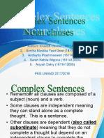 Complex-sentences Noun Clause