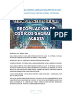 Recopilación de Códigos Sagrados Numéricos de Jose Gabriel Uribe Agesta