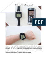 Turn an Old Cell Phone Into a Smartwatch