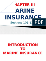 Marine Insurance (Sections 101-122)