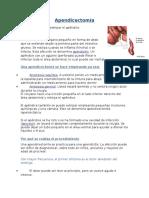 Apendicectomía