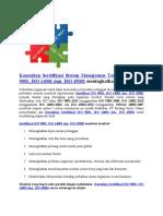 Konsultan ISO Medan | Badan Sertifikasi ISO Terbaik Di Indonesia | WA +62 822 9867 5016