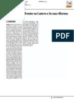 Studiosi a confronto su Lutero e la sua Riforma - Il Corriere Adriatico del 13 marzo 2017
