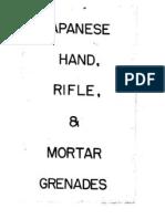 Japanese Hand Rifle and Mortar Grenades