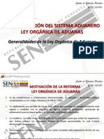 Reorganizacion Sistema Aduanero 2015