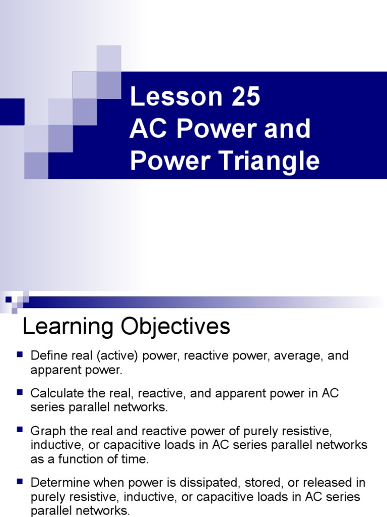 Ee301 Lesson 25 Ac Power And Pwr Triangle Electrical Pure Series Circuit Formula For Parallel Connected Resistor Impedance