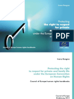 Protecting the Right to Respect for Private and Family Life Under the European Convention on Human Rights