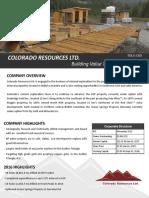 Colorado Resources Corporate FS Jan2017