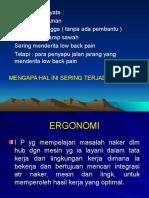 ERGONOMI & PRODUKTIVITAS KERJA
