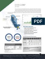 MAG Silver Corp. Factsheet 2016