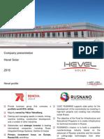 Company Presentation Hevel 04.2016