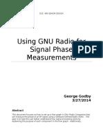 Using GNU Radio for Signal Phase Measurements