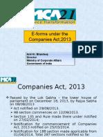 MCA21- Companies Act 2013 Eforms