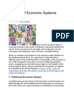 4 Types of Economic Systems Explained