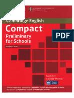 Compact Preliminary English for Schools Teacher's Book