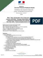 Extrait du bulletin officiel des finances publiques