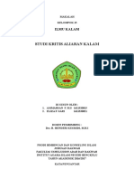 IKMU KALAM Studi Kritis Aliran Kalam