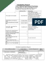 Liquidation Report NRSP 4th Liquidation EiE Project (Responses)