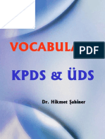 Verbs and Adjective Collocations for KPDS UDS Tests