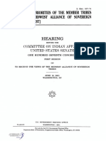 SENATE HEARING, 107TH CONGRESS - GOALS AND PRIORITIES OF THE MEMBER TRIBES OF THE MIDWEST ALLIANCE OF SOVEREIGN TRIBES [MAST]