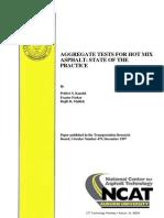 Aggregate Tests for Hot Mix Asphalt